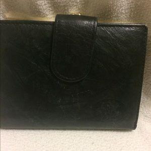 Ladies Black Kid Leather Soft Black Wallet BUXTON